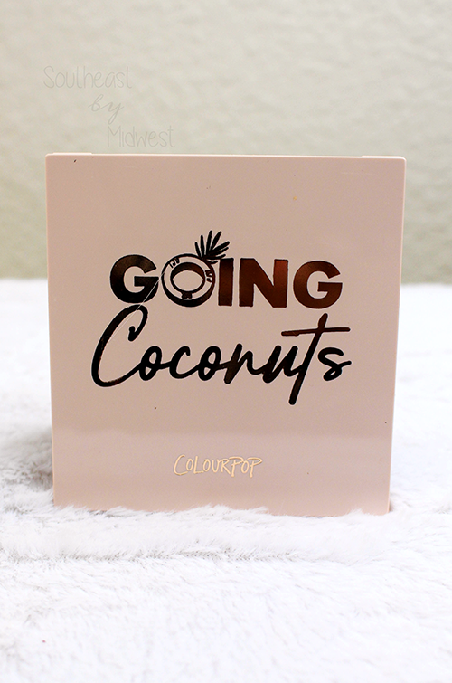 ColourPop Going Coconuts Palette Front || Southeast by Midwest #beauty #bbloggers #colourpop #colourpopme #crueltyfree