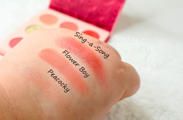 ColourPop Love Bird Palette Row 1 Swatches || Southeast by Midwest #beauty #bbloggers #colourpop #crueltyfree