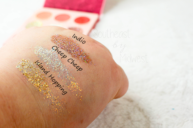 ColourPop Love Bird Palette Row 2 Swatches || Southeast by Midwest #beauty #bbloggers #colourpop #crueltyfree