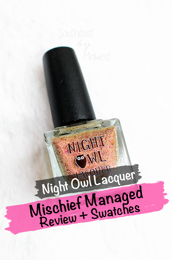 Night Owl Lacquer Mischief Managed || Southeast by Midwest #beauty #bblogger #manimonday #nailpolish #nightowllacquer #harrypotter