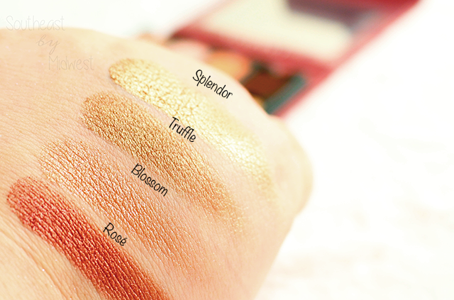Viseart Rose Edit Palette Swatches Row 3 || Southeast by Midwest #beauty #bbloggers #viseartlove #viseartroseedit