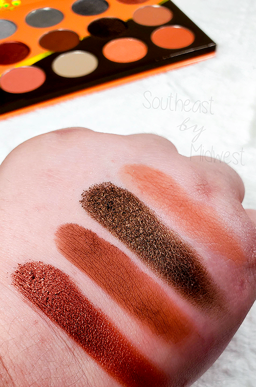 Juvia's Place Coral Palette Row 2 Swatches || Southeast by Midwest #beauty #bbloggers #eyeshadow #juviasplace