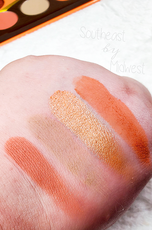 Juvia's Place Coral Palette Row 3 Swatches || Southeast by Midwest #beauty #bbloggers #eyeshadow #juviasplace