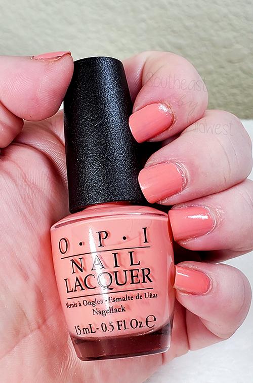 OPI Jambalaya Nail Polish Glossy Top Coat || Southeast by Midwest #beauty #bbloggers #nailpolish #manimonday #opi