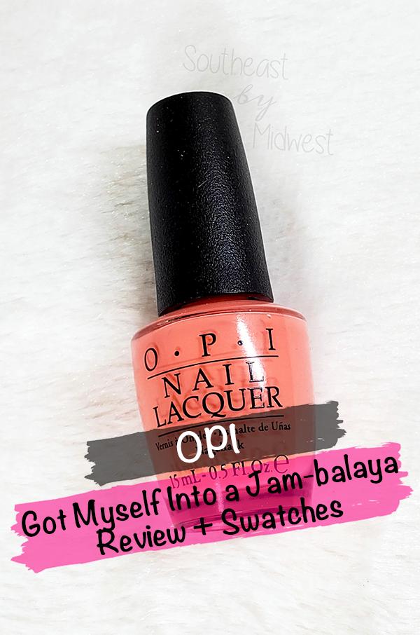 OPI Jambalaya Nail Polish || Southeast by Midwest #beauty #bbloggers #nailpolish #manimonday #opi