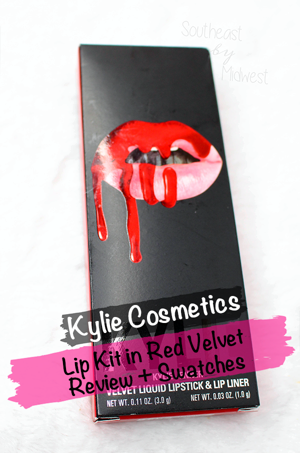 Kylie Lip Kit in Red Velvet || Southeast by Midwest #beauty #bbloggers #kyliecosmetics