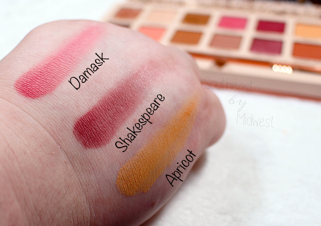Sigma Cor de Rosa Palette Row 2 Swatches || Southeast by Midwest #beauty #bbloggers #sigmabeauty #sigmacorderosa