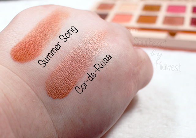 Sigma Cor de Rosa Palette Row 5 Swatches || Southeast by Midwest #beauty #bbloggers #sigmabeauty #sigmacorderosa
