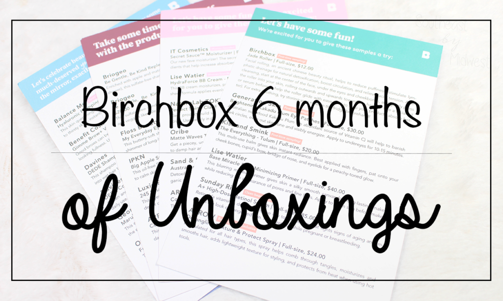 Birchbox June - November Unboxings Featured Image || Southeast by Midwest #beauty #bbloggers #birchbox #subscriptionbox