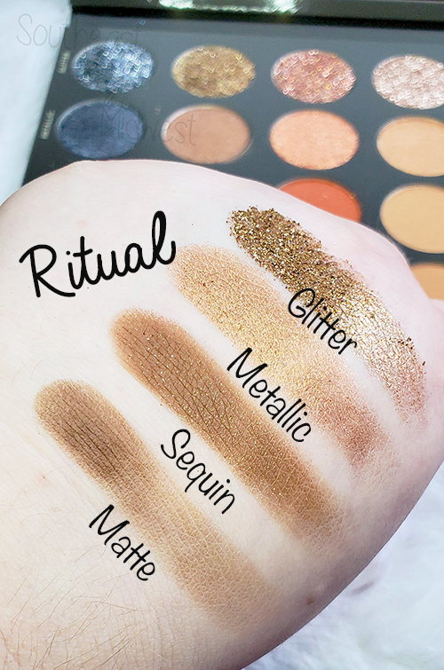 Tati Vol 1 Eyeshadow Palette Ritual Swatches || Southeast by Midwest #beauty #bbloggers #tatibeauty #swatches