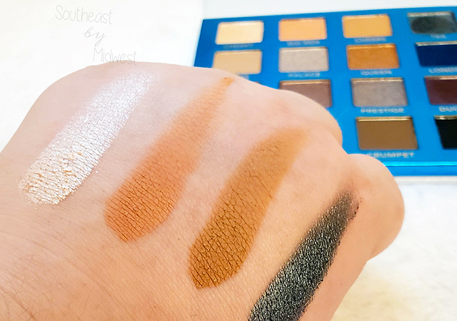 bH London Palette Row 1 Swatches || Southeast by Midwest #beauty #bbloggers #bhcosmetics