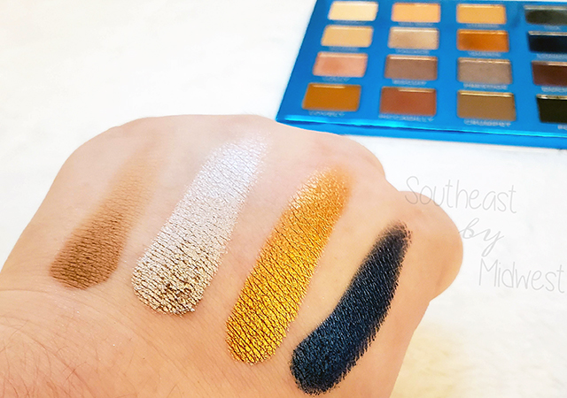 bH London Palette Row 2 Swatches || Southeast by Midwest #beauty #bbloggers #bhcosmetics