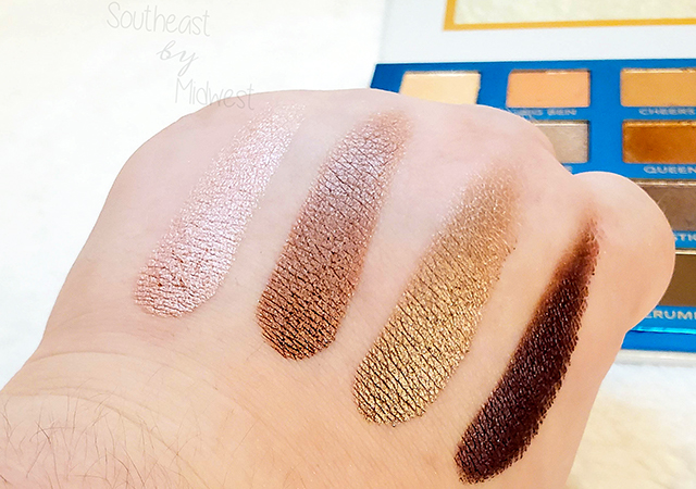 bH London Palette Row 3 Swatches || Southeast by Midwest #beauty #bbloggers #bhcosmetics