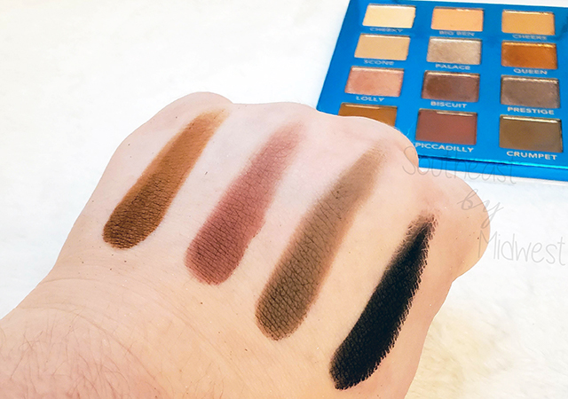 bH London Palette Row 4 Swatches || Southeast by Midwest #beauty #bbloggers #bhcosmetics