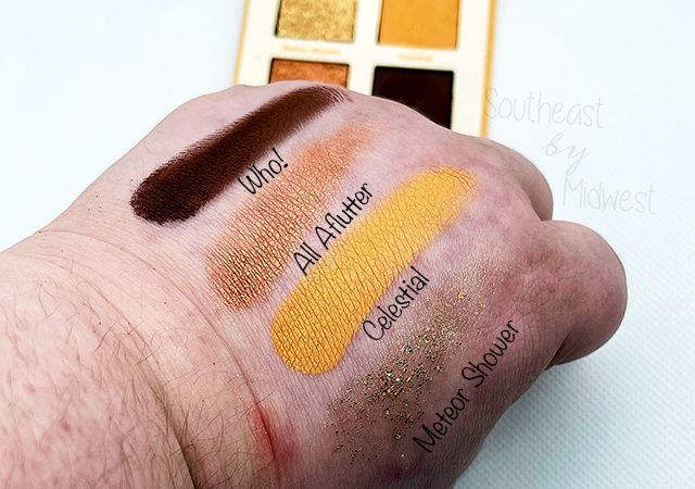 ColourPop x Animal Crossing What a Hoot Palette Swatches    Southeast by Midwest #beauty #bbloggers #colourpop #colourpopxanimalcrossing #animalcrossing
