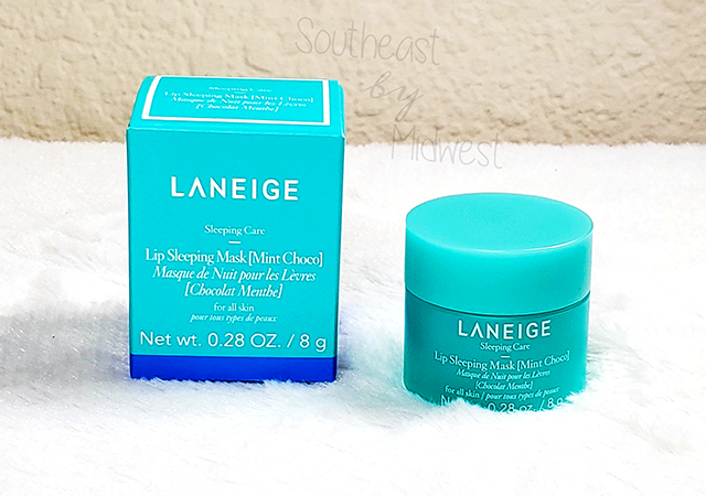 Laneige Mint Chocolate Mask About || Southeast by Midwest #beauty #bbloggers #lipmask #laneige