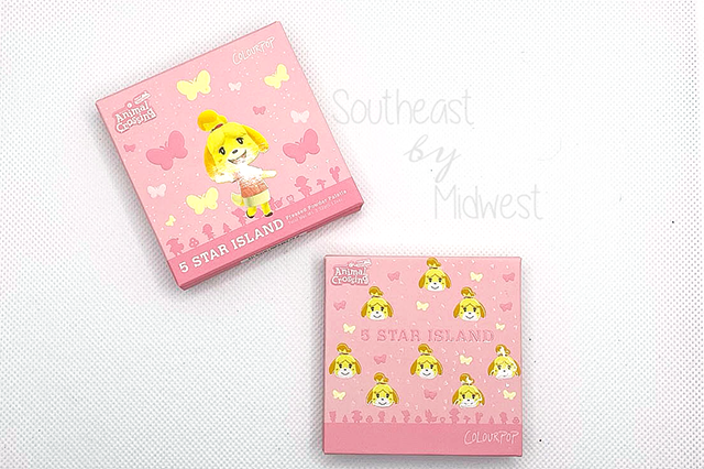 5 Star Island Palette About || Southeast by Midwest #beauty #bbloggers #colourpop #animalcrossing