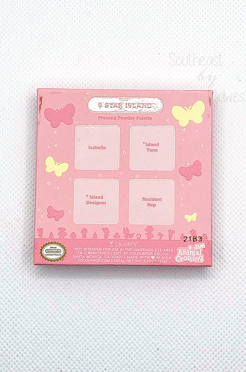 5 Star Island Palette Back of Box || Southeast by Midwest #beauty #bbloggers #colourpop #animalcrossing