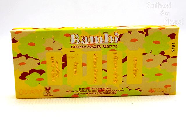Bambi Palette Back of Palette || Southeast by Midwest #beauty #colourpop #disney #disneyxcolourpop #bambi